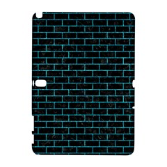 Brick1 Black Marble & Turquoise Marble Samsung Galaxy Note 10 1 (p600) Hardshell Case by trendistuff