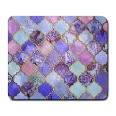 Blue Moroccan Mosaic Large Mousepads by Brittlevirginclothing