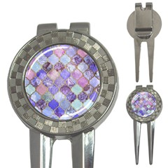 Blue Moroccan Mosaic 3 In 1 Golf Divots by Brittlevirginclothing