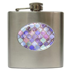 Blue Moroccan Mosaic Hip Flask (6 Oz) by Brittlevirginclothing