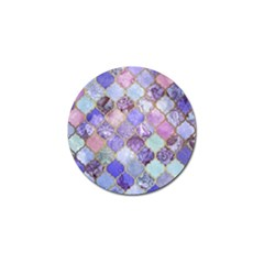 Blue Moroccan Mosaic Golf Ball Marker (4 Pack) by Brittlevirginclothing