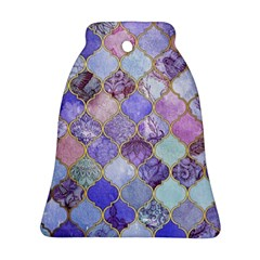 Blue Moroccan Mosaic Bell Ornament (two Sides) by Brittlevirginclothing
