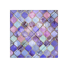 Blue Moroccan Mosaic Acrylic Tangram Puzzle (4  X 4 ) by Brittlevirginclothing