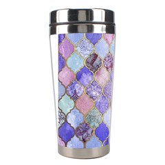 Blue Moroccan Mosaic Stainless Steel Travel Tumblers by Brittlevirginclothing