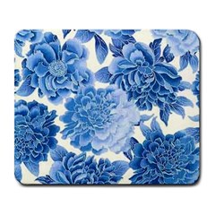 Blue Flower Large Mousepads by Brittlevirginclothing