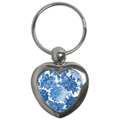 Blue Flower Key Chains (heart)  by Brittlevirginclothing