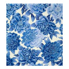 Blue Flower Shower Curtain 66  X 72  (large)  by Brittlevirginclothing