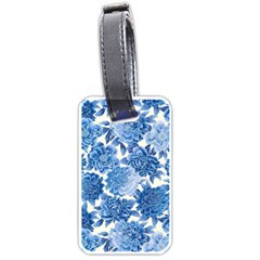 Blue Flower Luggage Tags (one Side)  by Brittlevirginclothing