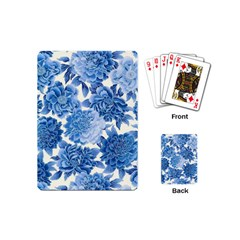 Blue Flower Playing Cards (mini)  by Brittlevirginclothing