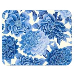Blue Flower Double Sided Flano Blanket (medium)  by Brittlevirginclothing
