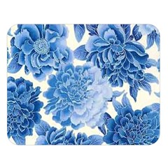 Blue Flower Double Sided Flano Blanket (large)  by Brittlevirginclothing
