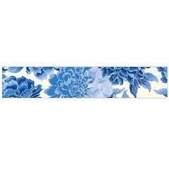 Blue Flower Flano Scarf (large)  by Brittlevirginclothing