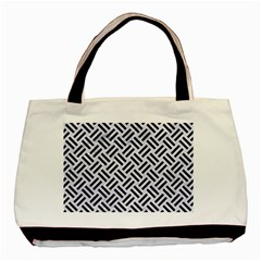 Woven2 Black Marble & White Marble (r) Basic Tote Bag by trendistuff