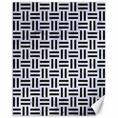 Woven1 Black Marble & White Marble (r) Canvas 11  X 14  by trendistuff