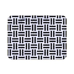 Woven1 Black Marble & White Marble (r) Double Sided Flano Blanket (mini)