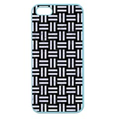 Woven1 Black Marble & White Marble Apple Seamless Iphone 5 Case (color) by trendistuff