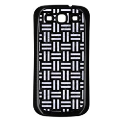 Woven1 Black Marble & White Marble Samsung Galaxy S3 Back Case (black) by trendistuff
