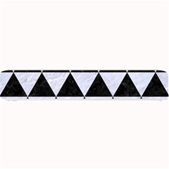 Triangle3 Black Marble & White Marble Small Bar Mat by trendistuff