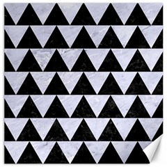 Triangle2 Black Marble & White Marble Canvas 20  X 20  by trendistuff