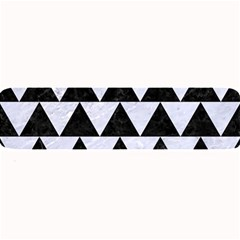 Triangle2 Black Marble & White Marble Large Bar Mat by trendistuff