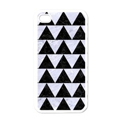 Triangle2 Black Marble & White Marble Apple Iphone 4 Case (white) by trendistuff
