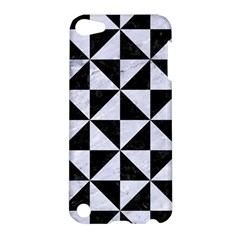Triangle1 Black Marble & White Marble Apple Ipod Touch 5 Hardshell Case by trendistuff