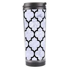 Tile1 Black Marble & White Marble (r) Travel Tumbler by trendistuff