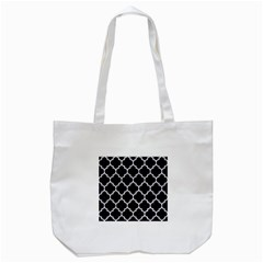 Tile1 Black Marble & White Marble Tote Bag (white) by trendistuff