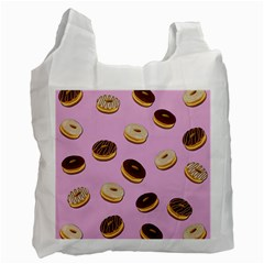 Donuts Pattern   Pink Recycle Bag (one Side) by Valentinaart