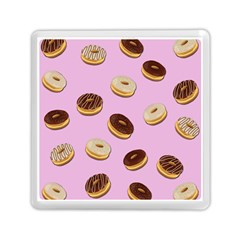 Donuts Pattern   Pink Memory Card Reader (square)  by Valentinaart