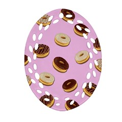 Donuts Pattern   Pink Ornament (oval Filigree) by Valentinaart