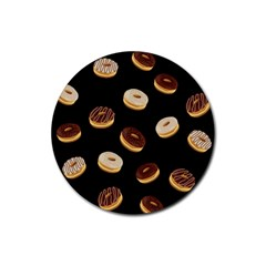 Donuts Rubber Coaster (round)  by Valentinaart