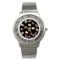 Donuts Stainless Steel Watch by Valentinaart
