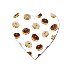 Donuts Pattern Heart Magnet by Valentinaart
