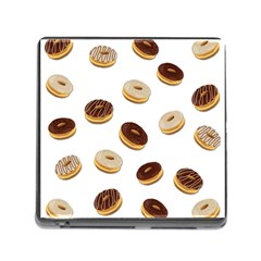 Donuts Pattern Memory Card Reader (square) by Valentinaart