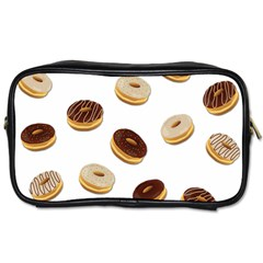 Donuts Pattern Toiletries Bags 2 Side by Valentinaart