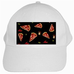 Pizza Slice Patter White Cap by Valentinaart