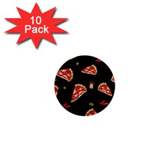 Pizza Slice Patter 1  Mini Magnet (10 Pack)  by Valentinaart