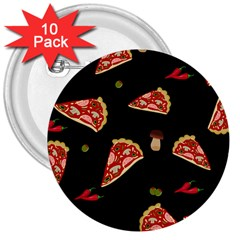 Pizza Slice Patter 3  Buttons (10 Pack)  by Valentinaart