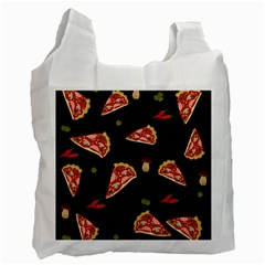 Pizza Slice Patter Recycle Bag (two Side)  by Valentinaart