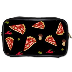 Pizza Slice Patter Toiletries Bags 2 Side