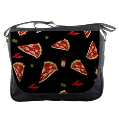Pizza Slice Patter Messenger Bags by Valentinaart