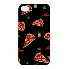 Pizza Slice Patter Apple Iphone 4/4s Premium Hardshell Case by Valentinaart
