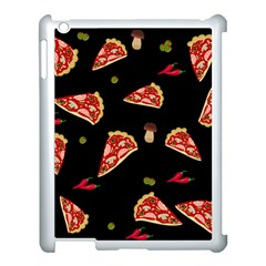 Pizza Slice Patter Apple Ipad 3/4 Case (white) by Valentinaart