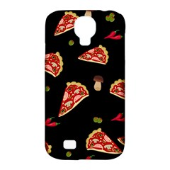 Pizza Slice Patter Samsung Galaxy S4 Classic Hardshell Case (pc+silicone) by Valentinaart