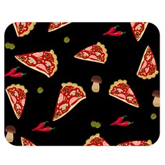 Pizza Slice Patter Double Sided Flano Blanket (medium)  by Valentinaart