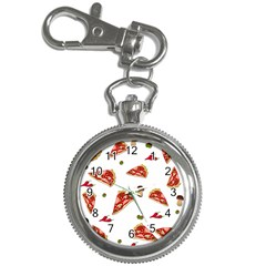 Pizza Pattern Key Chain Watches by Valentinaart