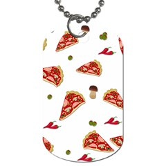 Pizza Pattern Dog Tag (one Side) by Valentinaart
