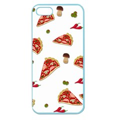 Pizza Pattern Apple Seamless Iphone 5 Case (color) by Valentinaart