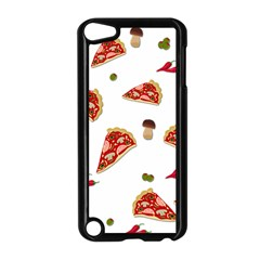Pizza Pattern Apple Ipod Touch 5 Case (black) by Valentinaart